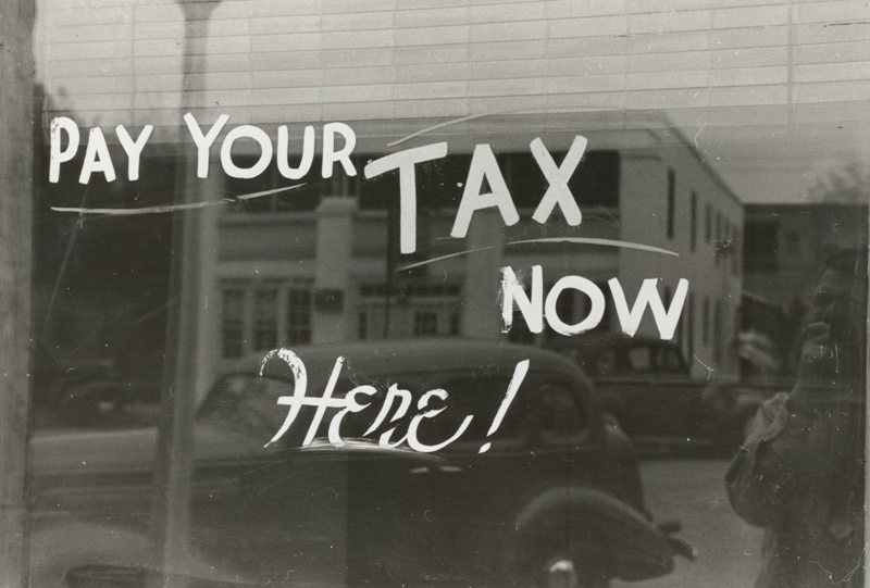 Pay Your Taxes Now and Here
